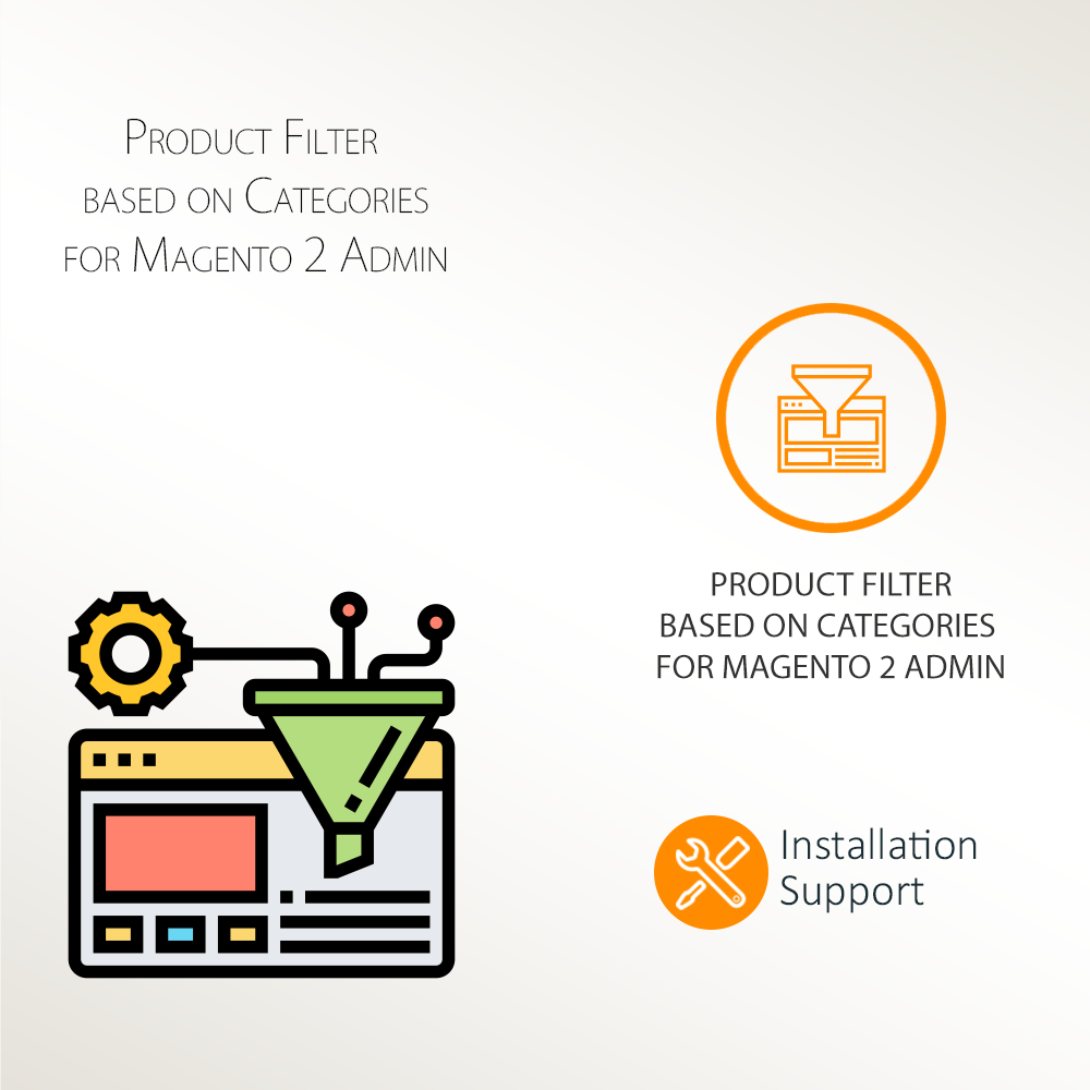 Product Filter based on Categories for Magento 2 Admin Extension