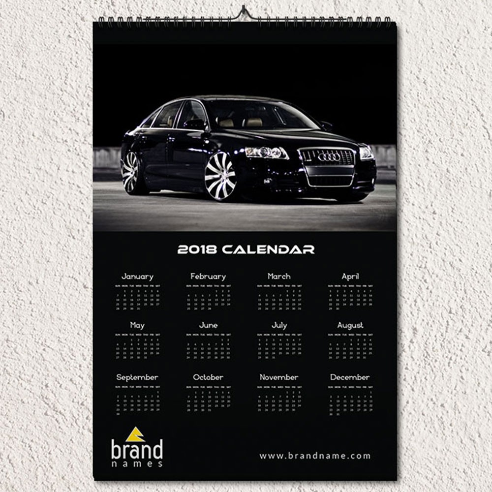 Automotive Corporate Wall Calendar Design
