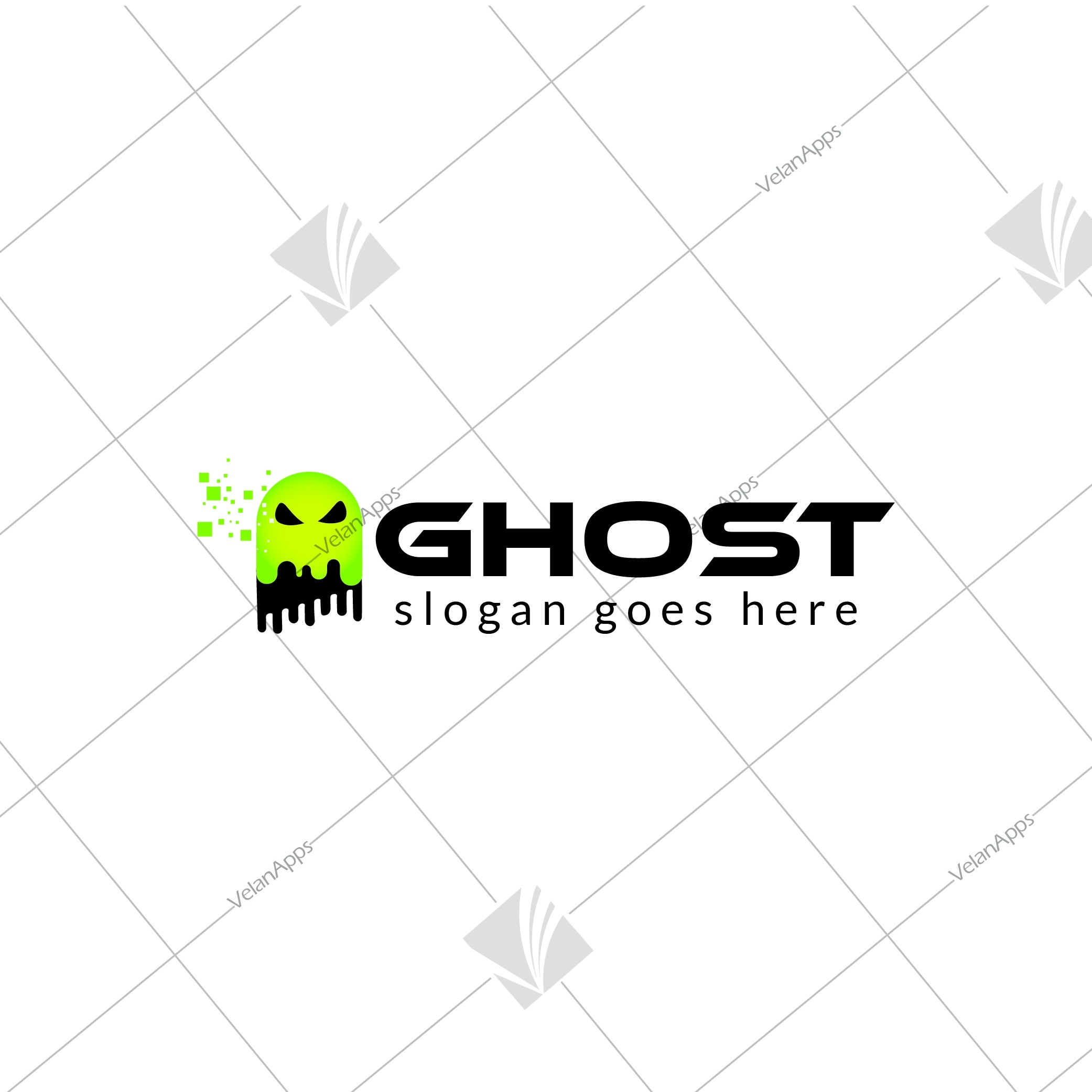 Ghost Themed Brand Logo Design
