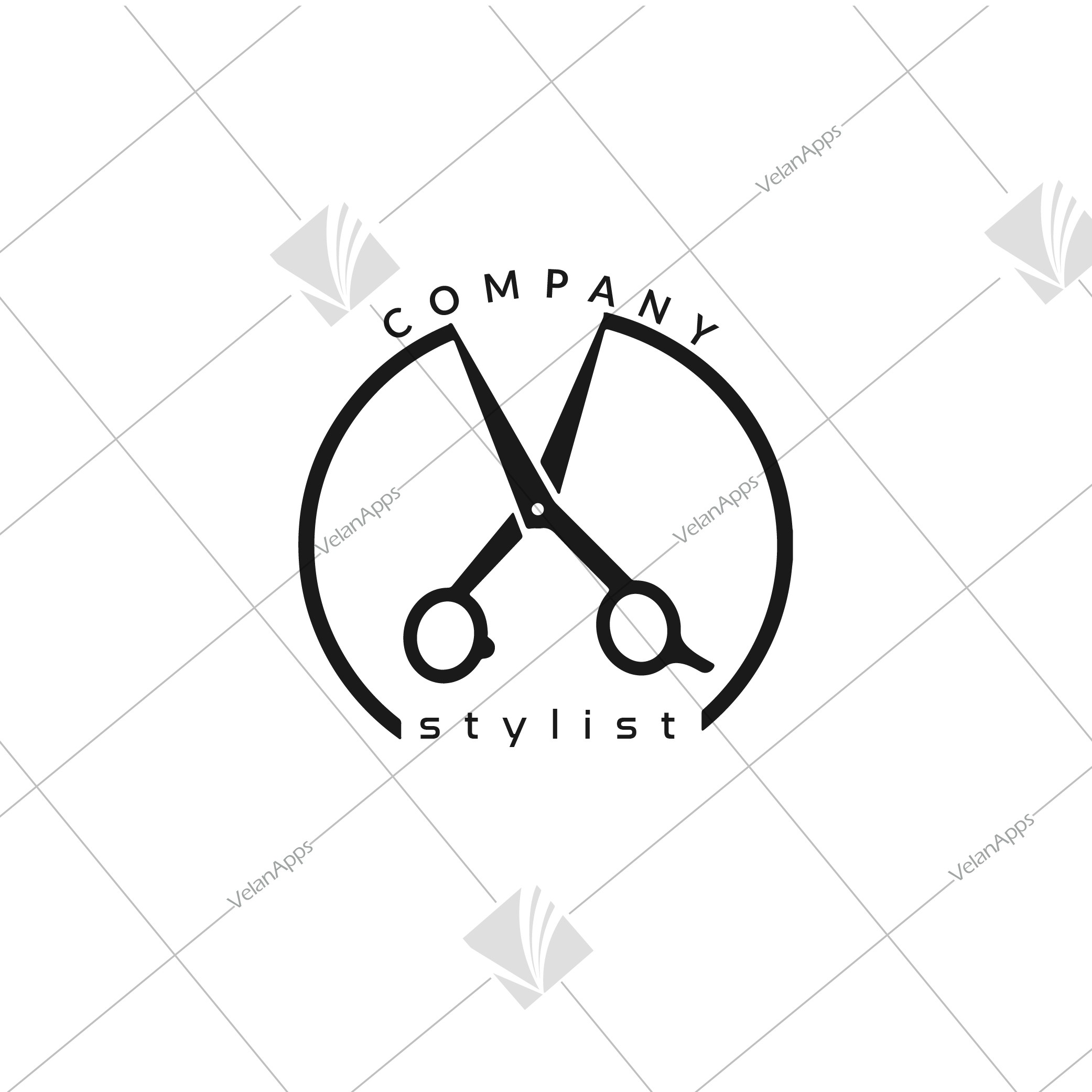 Hair Stylist Brand Logo Design