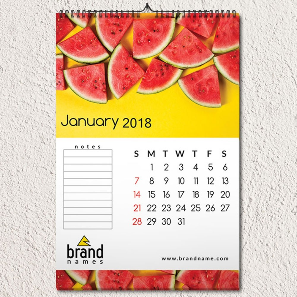 Melony Fresh Wall Calendar Design