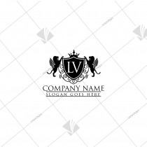 Winged Lion Emblem Logo