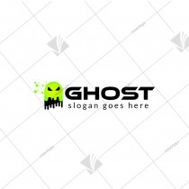 Ghost Themed Brand Logo Design