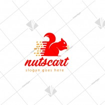 Nuts & Cart Themed Brand Logo