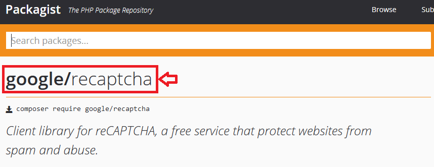 Magento 2 Include PHP Library Google Recaptcha Packagist