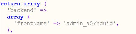 Magento 2 Admin URL Configuration File